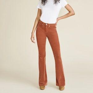 Veronica Beard High Rise Skinny Flare Cord Jeans